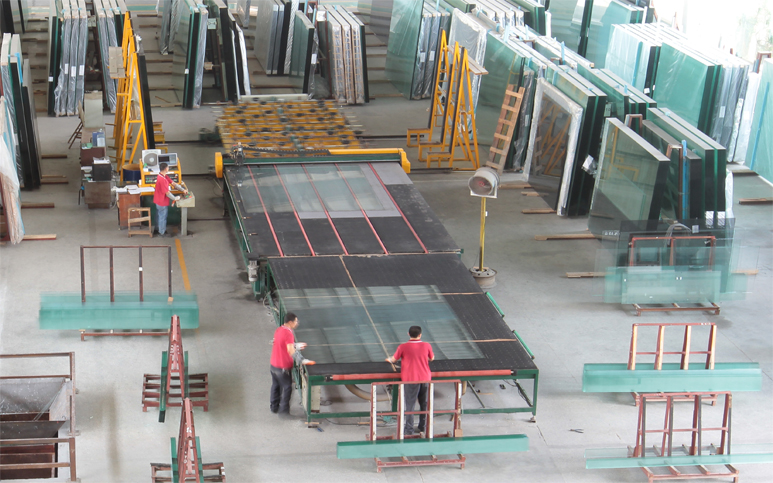 Auto Glass Cutting Machine 6.5*3.3M Two Production Line - Daily Yield 5000 SQM