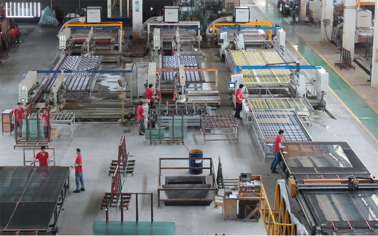 Double Line Glass Edging Machine 3 Production Line - Daily Yield 8000 SQM
