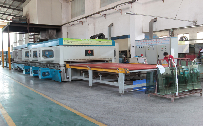 Flat Glass Tempering 3 Production Lines - Daily Yield 4000 SQM Tempered Glass