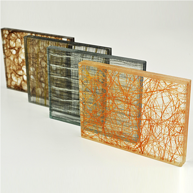 Fabric Mesh Laminated Glass Tempered Glass Laminated
