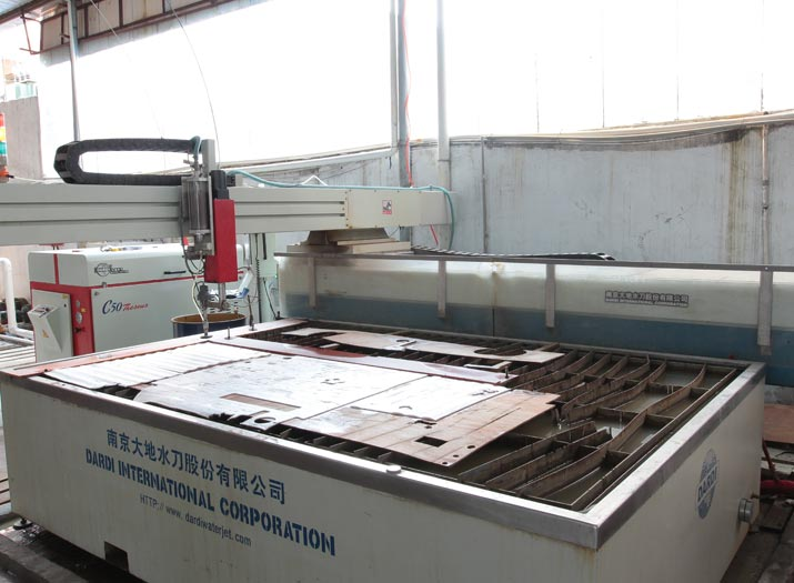 glass water jetting cutting and drlling production machine