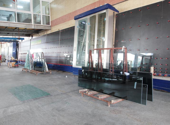 insulated glass production line washing and insulating