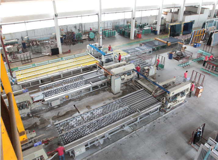 Glass edging auto production line
