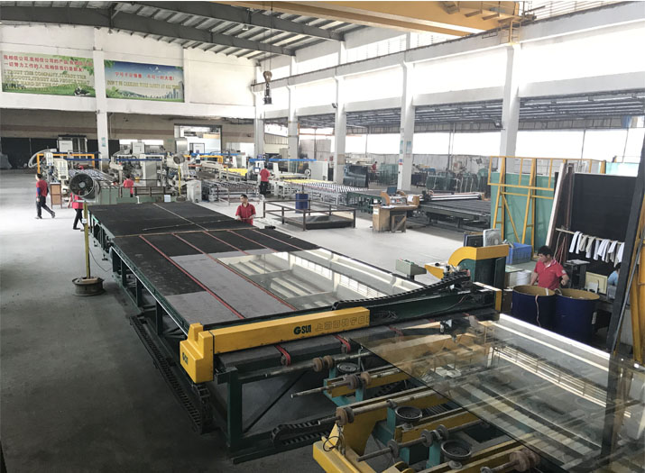 auto glass cutting production line