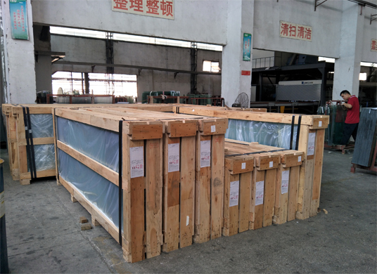 plywood crate package for tempered glass