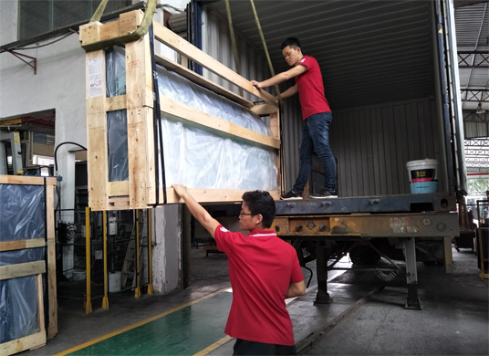 loading container of tempered glass