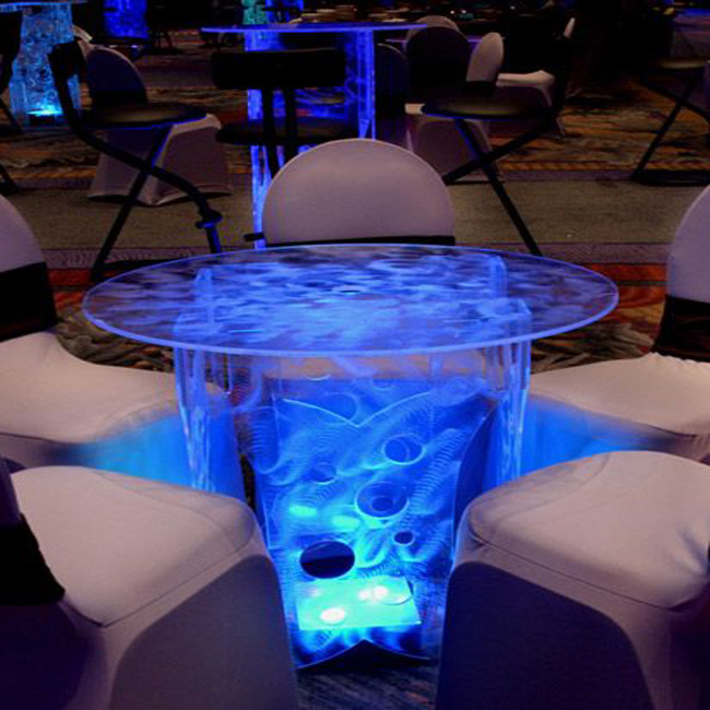 Glass Led Coffee Table 8