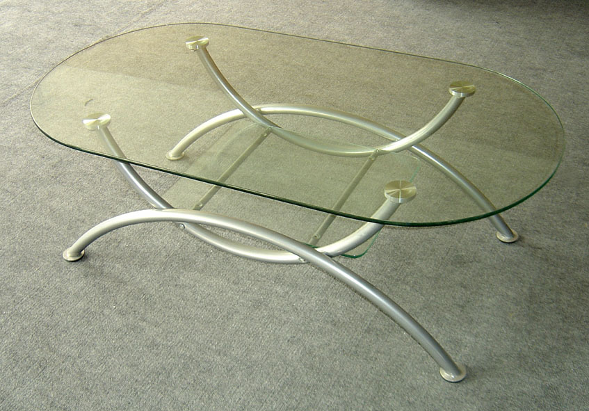 irregular glass top coffee table
